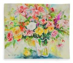 Watercolor Series 169 Fleece Blanket