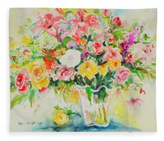 Watercolor Series 169 Fleece Blanket