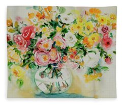 Watercolor Series 173 Fleece Blanket