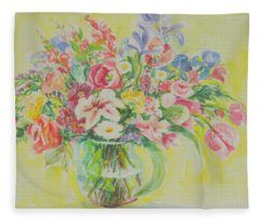 Watercolor Series 181 Fleece Blanket