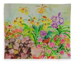 Watercolor Series 182 Fleece Blanket