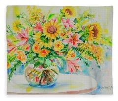 Watercolor Series 185 Fleece Blanket