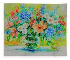 Watercolor Series 187 Fleece Blanket