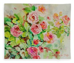 Watercolor Series 202 Fleece Blanket