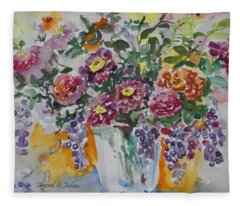 Watercolor Series 206 Fleece Blanket