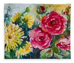Watercolor Series No. 212 Fleece Blanket