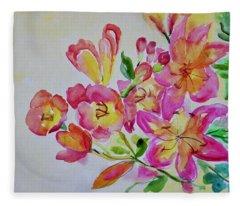 Watercolor Series No. 225 Fleece Blanket