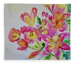 Watercolor Series No. 225 Fleece Blanket