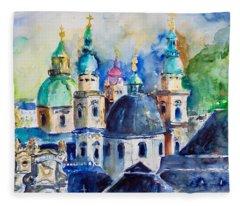 Watercolor Series No. 247 Fleece Blanket