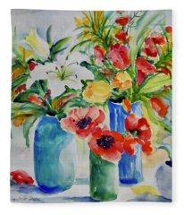 Watercolor Series No. 256 Fleece Blanket