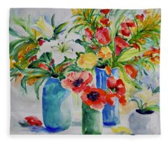 Watercolor Series No. 256 Fleece Blanket