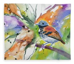 Watercolor - Spotted Antbird Fleece Blanket