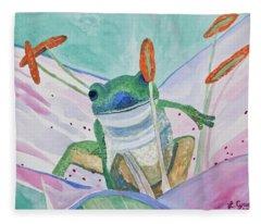 Watercolor - Tree Frog Fleece Blanket