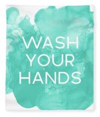 Watercolor Wash Your Hands- Art By Linda Woods Fleece Blanket