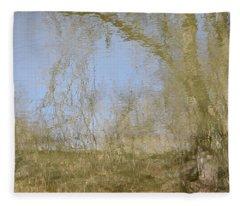 Water Colored Reflections Fleece Blanket