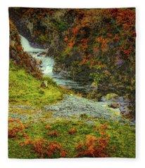 Waterfall 1 #g9 Fleece Blanket