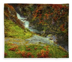 Waterfall 1 #g9 Fleece Blanket