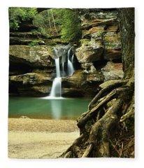 Waterfall And Roots Fleece Blanket
