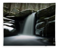 Waterfall From A Dream Fleece Blanket