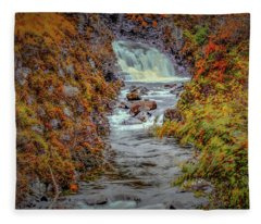 Waterfall #g8 Fleece Blanket