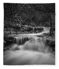 Fleece Blanket featuring the photograph Waterfall In Austin Texas - Square by Todd Aaron
