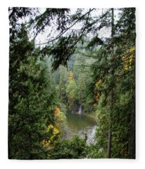 Waterfall In The Distance Fleece Blanket