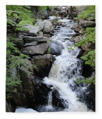 Waterfall Pillsbury State Park Fleece Blanket
