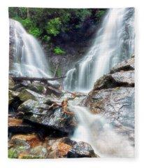 Waterfall Silence Fleece Blanket