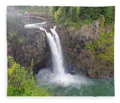 Waterfall Through The Mist Fleece Blanket