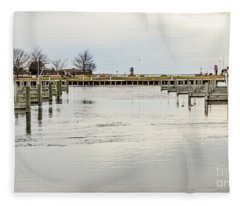 Waterfront Park In Ludington, Michigan Fleece Blanket