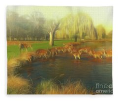 Watering Hole Fleece Blanket