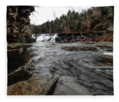 Waterloo Falls Fleece Blanket