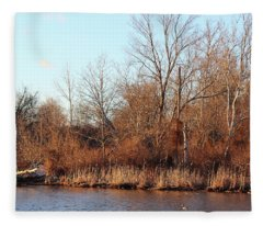 Northeast River Banks Fleece Blanket