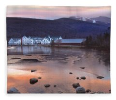 Waterville Valley Sunset Fleece Blanket