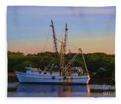 Old Shrimper Fleece Blanket