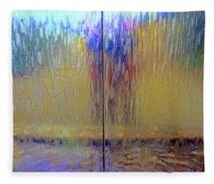 Watery Rainbow Abstract Fleece Blanket