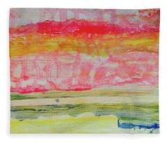 Watery Seascape Fleece Blanket