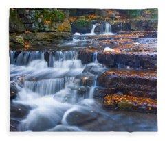 Watery Steps Fleece Blanket