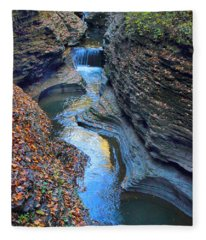 Watkins Glen Creek Fleece Blanket