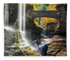 Watkins Glen State Park Fleece Blanket