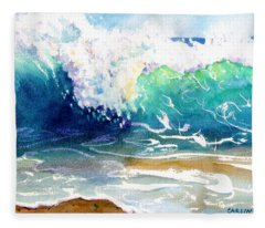 Wave Color Fleece Blanket