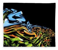 Wave Of Colors Fleece Blanket
