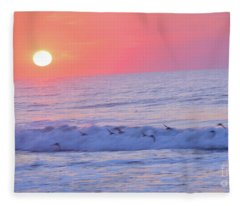 Wave Of Gratitude Nature Art Fleece Blanket