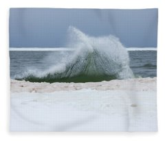 Wave Of Texture Fleece Blanket