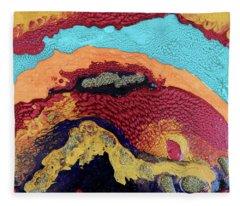 Waves Of Debbie Fleece Blanket
