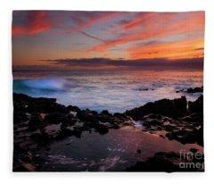 Waves Of Paradise Fleece Blanket