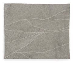 Waves Of Time And Time Again In The Sand Fleece Blanket