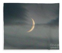 Waxing Crescent Moon Fleece Blanket