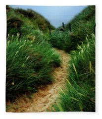 Way Through The Dunes Fleece Blanket