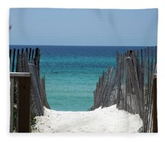 Way To The Beach Fleece Blanket